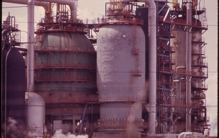Exxon Oil Refinery on the New Jersey Turnpike