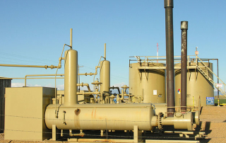 Oil pipeline pumping station