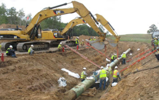 Enbridge pipeline excavation in Grand Marsh, Wisconsin