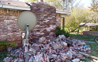 Home damaged by Oklahoma earthquake