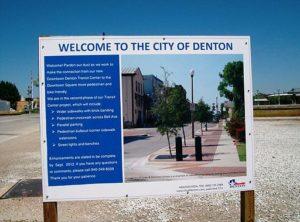 Denton Sign