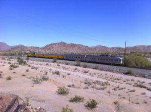 Union Pacific train in Arizona