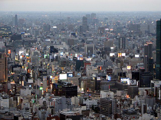 Urban Density in Ginza, Tokyo