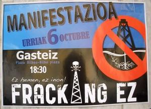Anti-Fracking Poster in Vitoria-Gasteiz, Álava, Spain