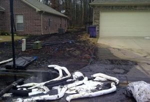 Homes affected by Mayflower oil spill
