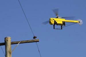 UAV inspecting power lines
