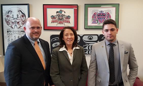 Lispcomb & Alfaouri with Senator Cantwell