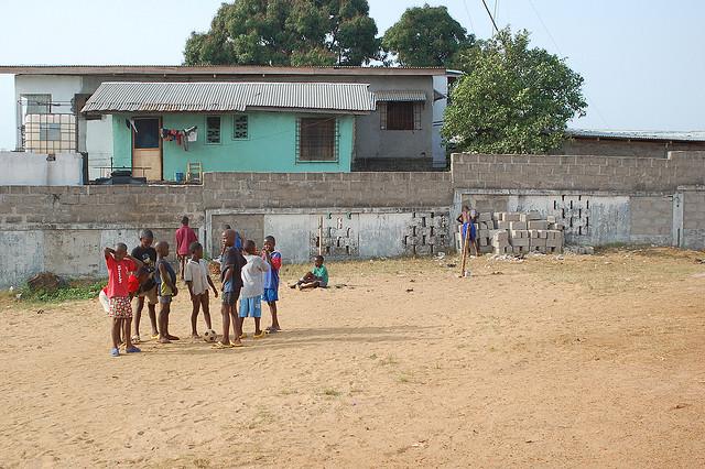 Kids Playing Soccer in Monrovia, Liberia